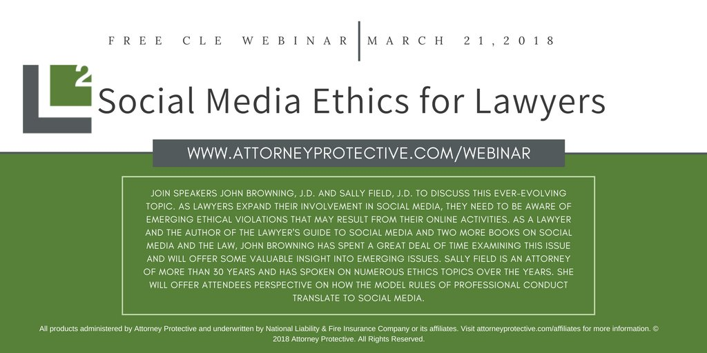 Social Media Ethics Webiniar 3/21/2018