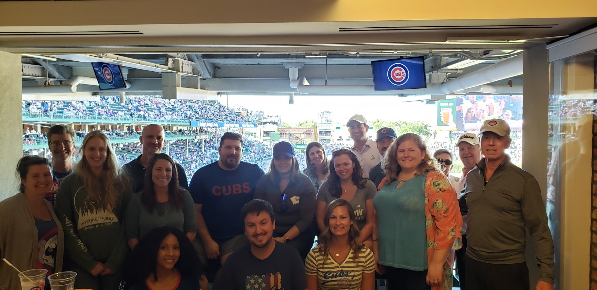 L Squared with Aon at Cubs Game